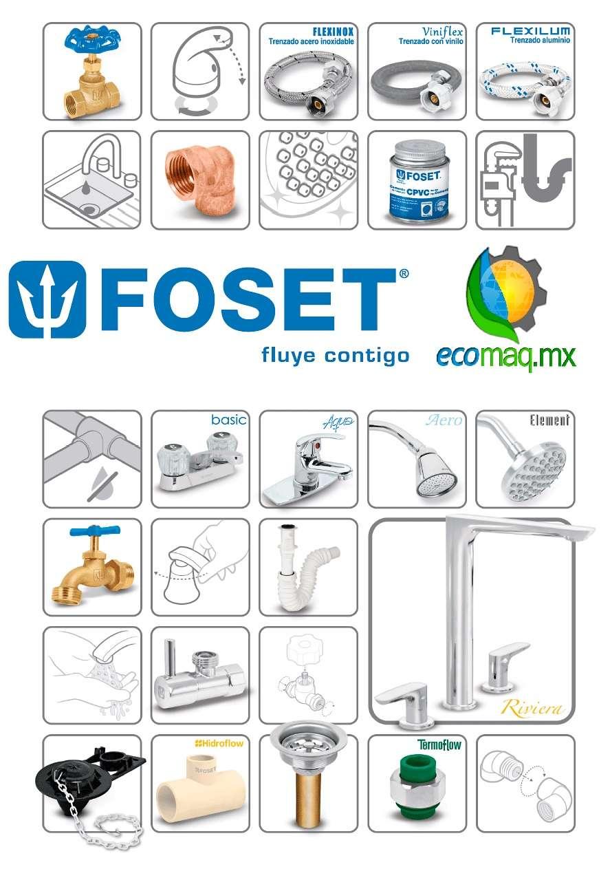 Juego de accesorios para ba o wc foset 49342 ecomaqmx for Accesorios para bano mercadolibre