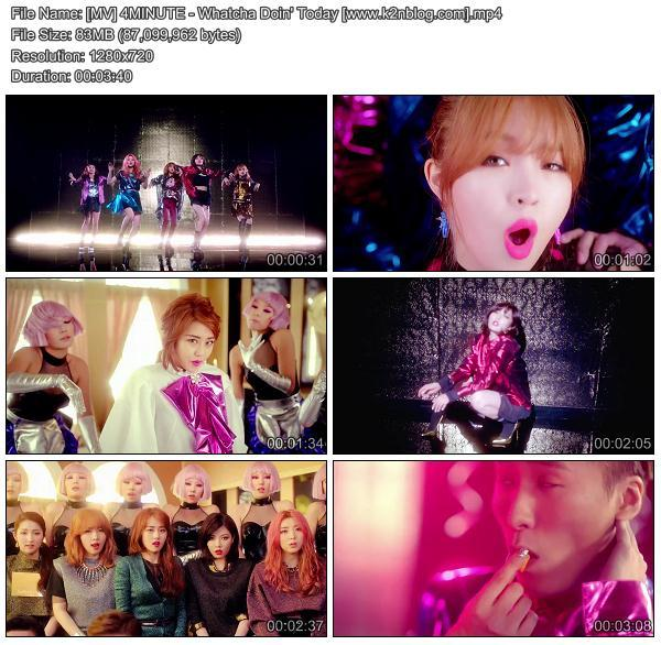 (MV) 4MINUTE - Whatcha Doin' Today (HD 720p Youtube)