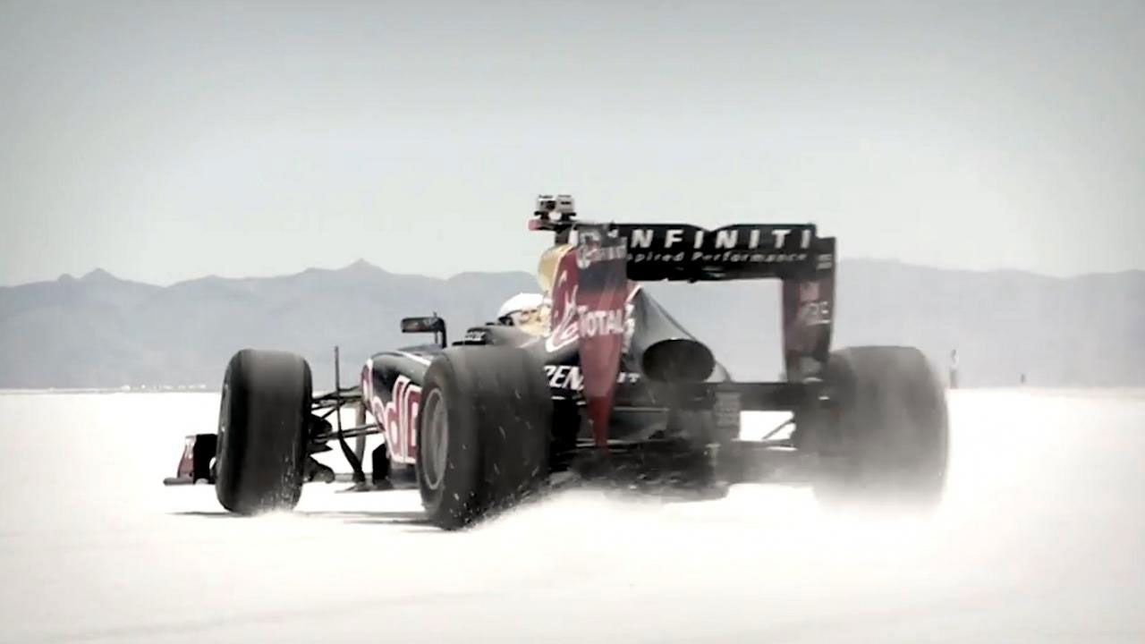 Daniel Ricciardo drives Red Bull Racing RB7 at Salinas Grandes, Argentina