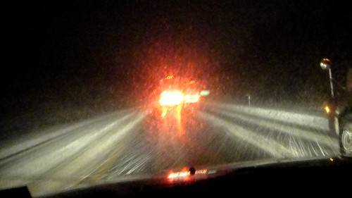following the oregon trail through blinding snow