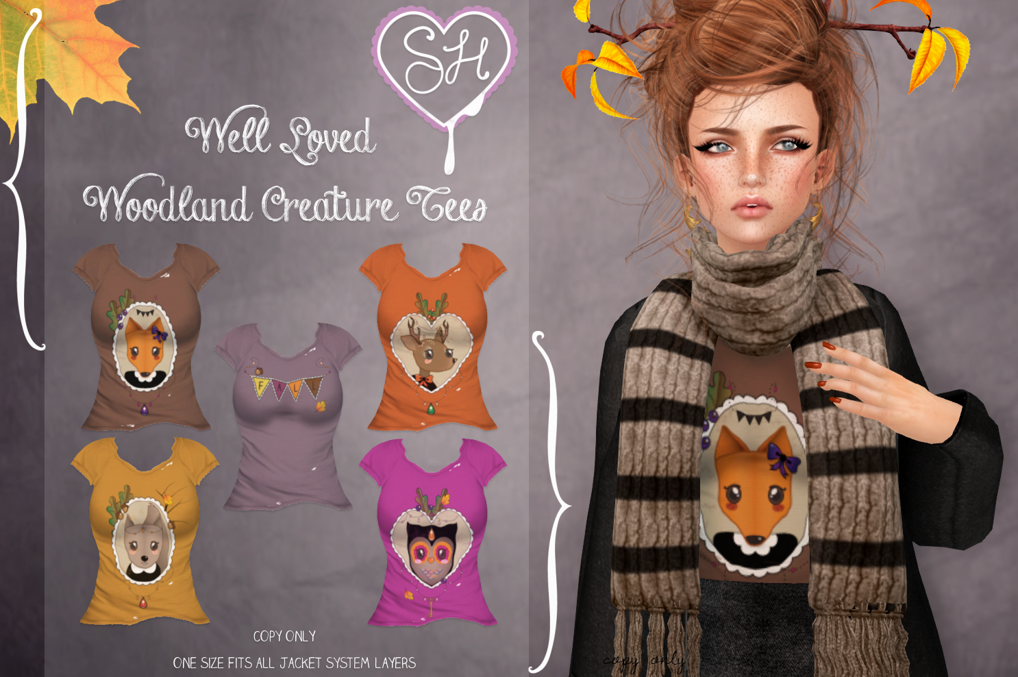 {Sugar Heart} Well Loved Woodland Creature Tees