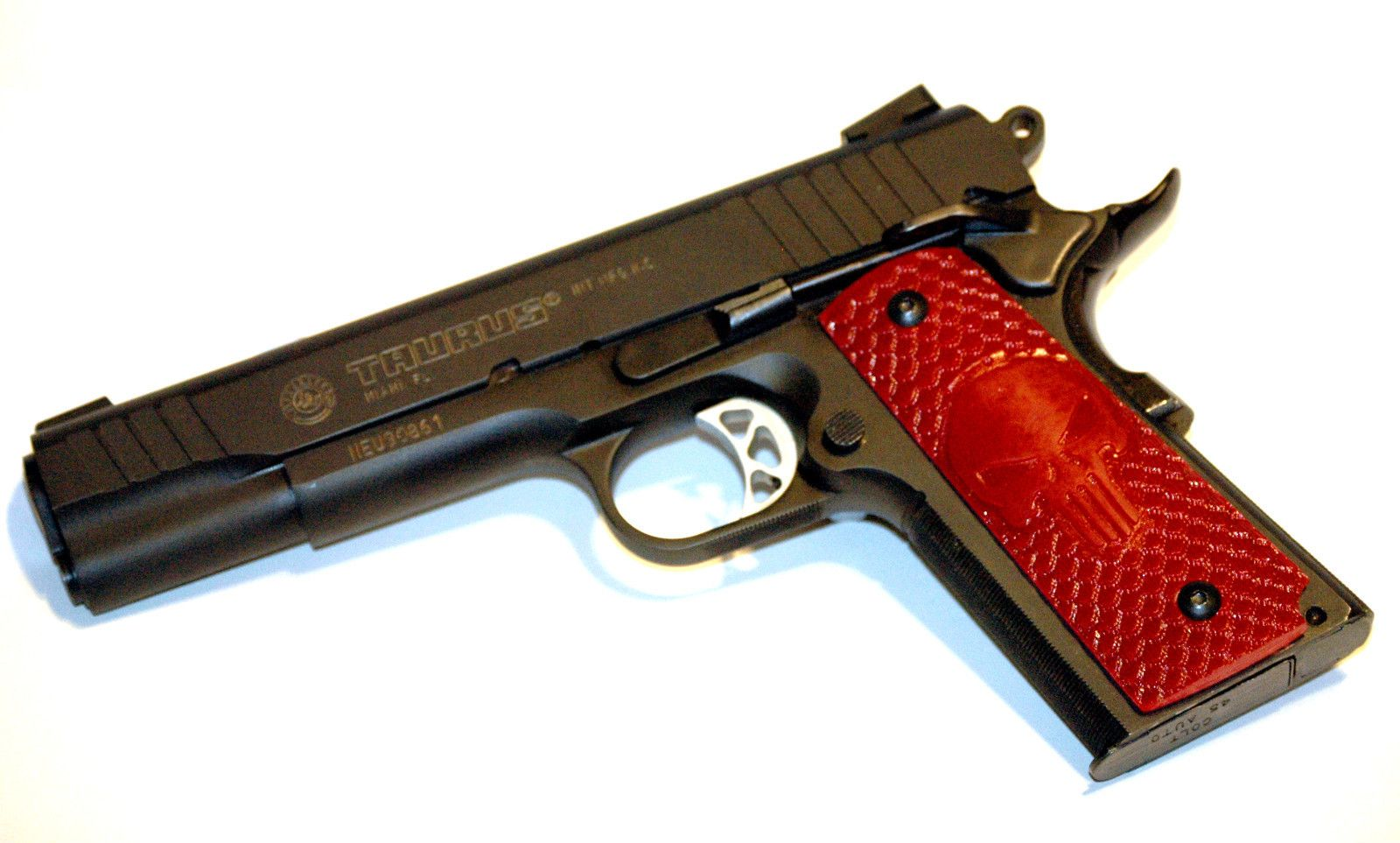 Red Scaled PUNISHER GRIPS COLT 1911 45 KIMBER SIG SAUER ...
