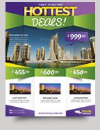 hottest deals product promotion flyer