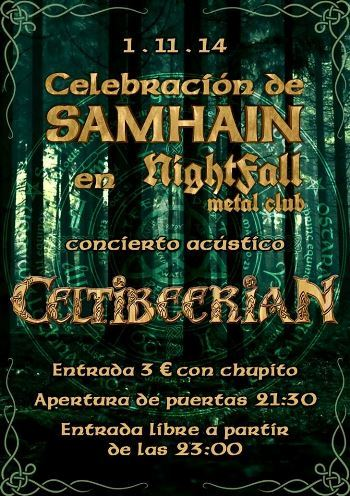 Celtibeerian acústico en Madrid. Cartel