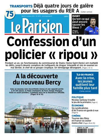Le Parisien + Journal de Paris du mardi 13 octobre 2015