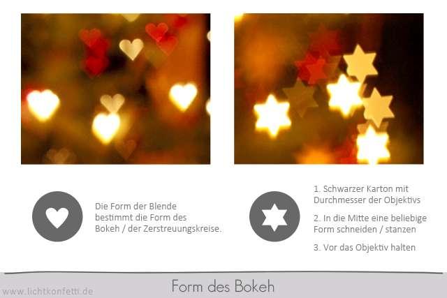 Foto-Kurs - Form des Bokeh - Herzchen-Bokeh Herz - selber machen