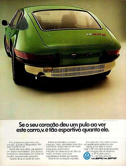 Se o seu coração deu um pulo ao ver o Volkswagen SP2, você é tão esportivo quanto ele.