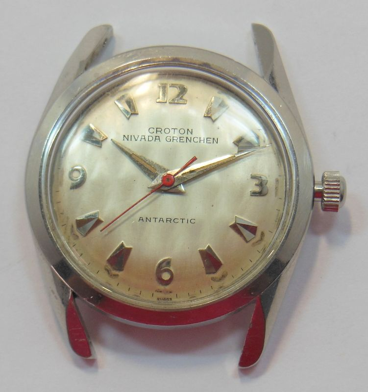 No Easy Answers In Afghanistan >> CROTON VINTAGE NIVADA GRENCHEN ANTARCTIC WRIST WATCH RUNNING ILLINOIS MVT. NR