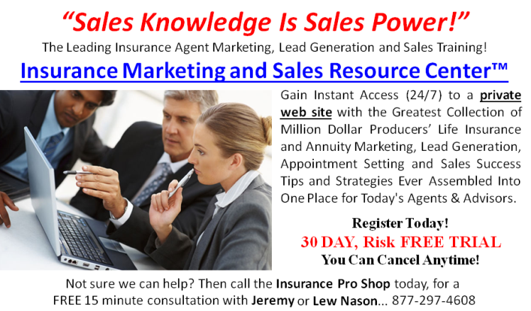 Insurance Marketing and Sales Resource Center - Click Here For The Complete Details