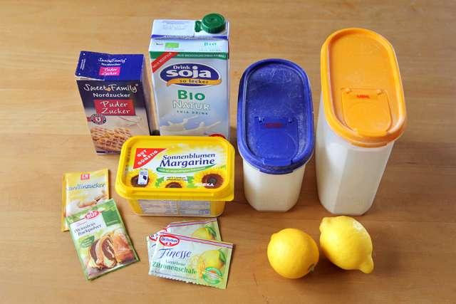 Blogparade Zitrone - Rezept Vegane Zitronenschnitten