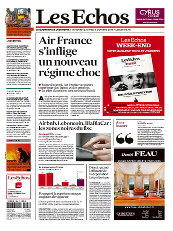 Les Echos Du Vendredi 2 Octobre 2015