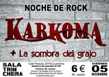 Karkoma + La Sombra del Grajo cartel