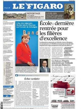 Le Figaro Du Mardi 1er Septembre 2015