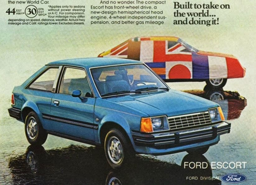 Ford Escort. Built to take on the world... and doing it!