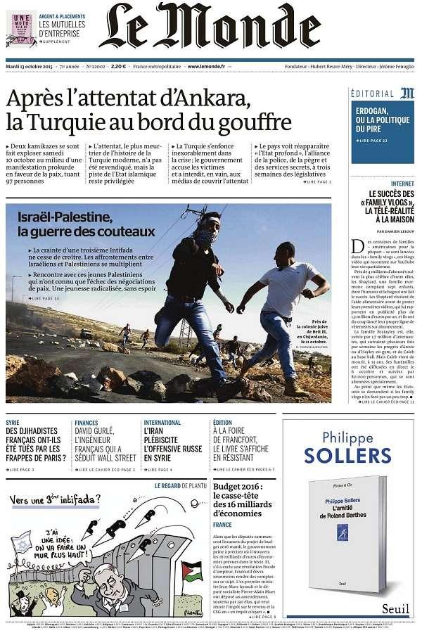 Le Monde et 2 Suppléments du Mardi 13 Octobre 2015