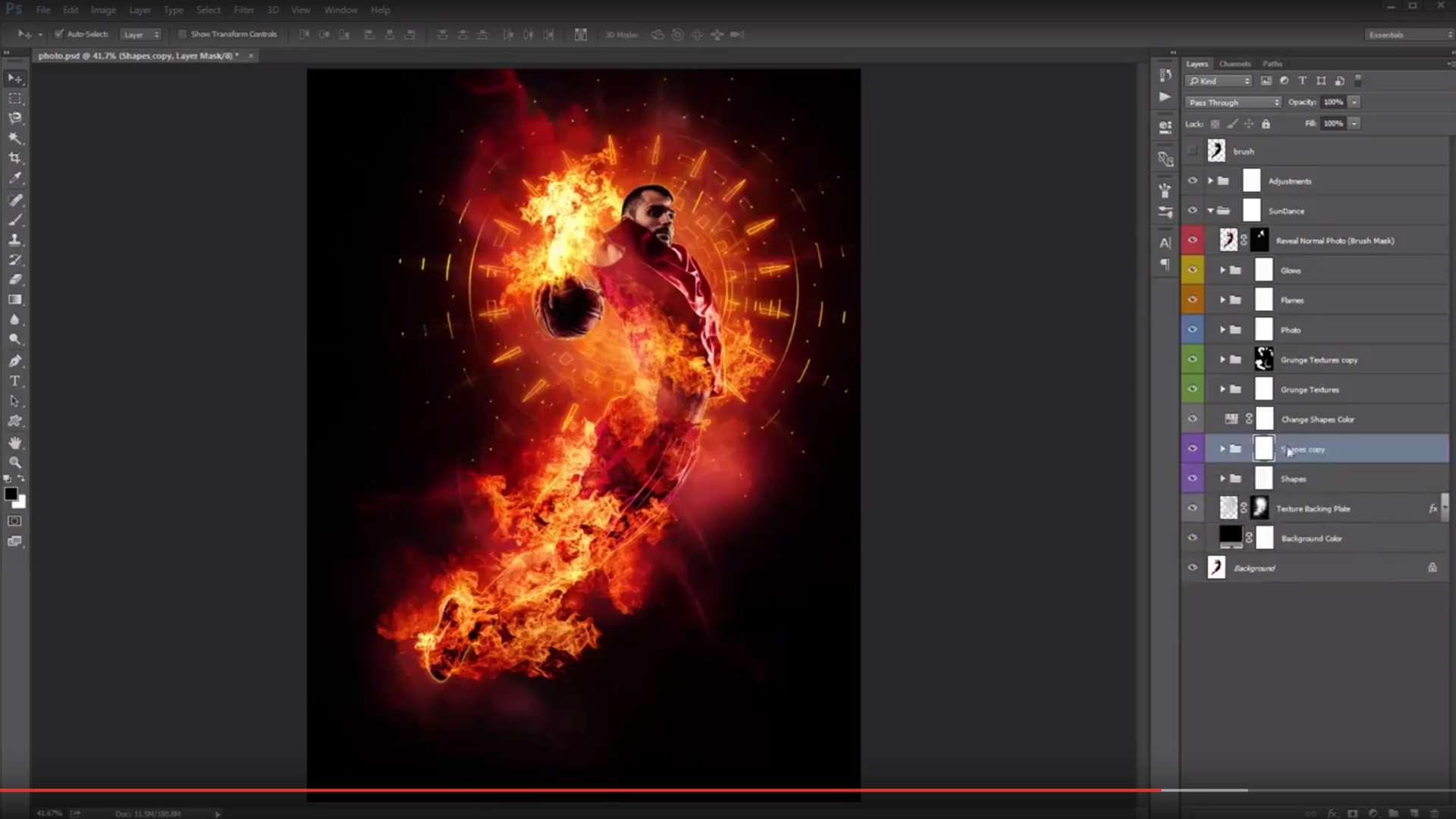 SunDance Photoshop Action