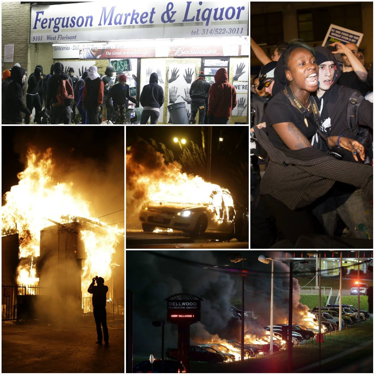 Fires in Ferguson