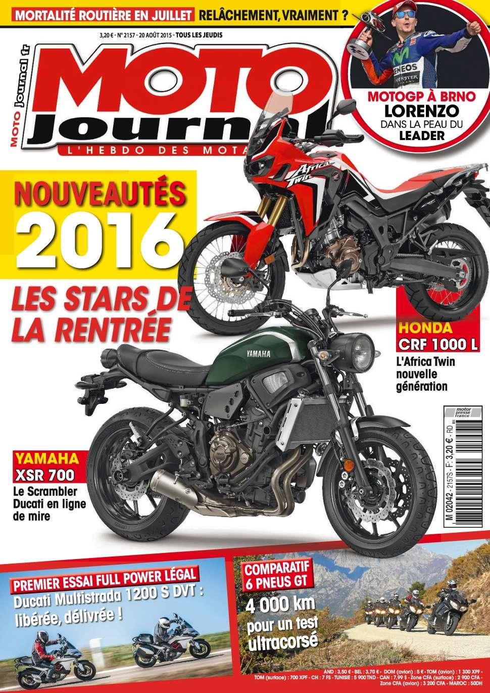 Moto Journal 2157 - 20 au 26 Août 2015