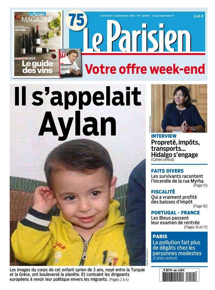 Le Parisien + Journal de Paris du Vendredi 4 Septembre 2015