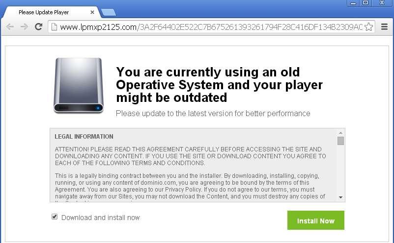 Verwijder â € ~You gebruikt momenteel een oude Besturingssysteem Plotseling verschijnen op uw Screenâ € ™ Pop-Up