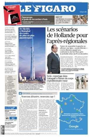Le Figaro du Mercredi 28 Octobre 2015