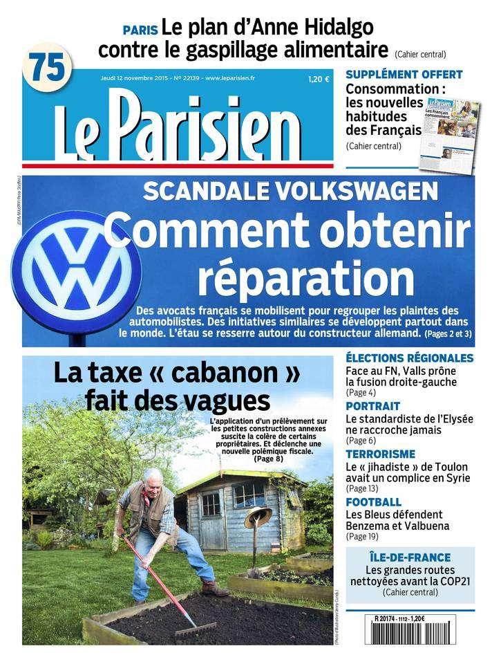 Le Parisien + Journal de Paris du Jeudi 12 Novembre 2015