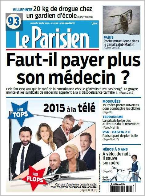 Le Parisien + Journal de Paris du Samedi 9 Janvier 2016