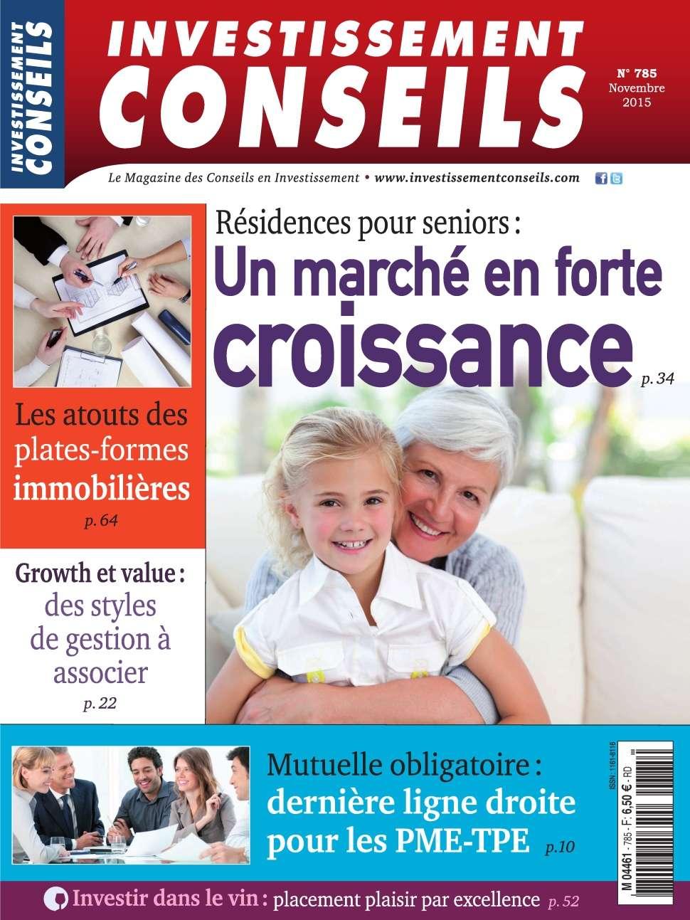 Investissement Conseils 785 - Novembre 2015