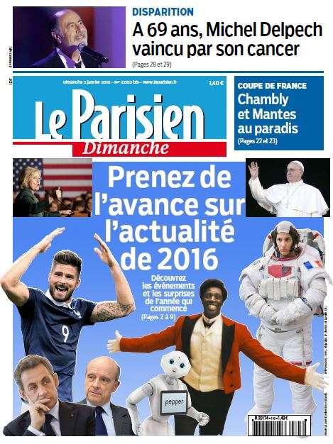 Le Parisien du Dimanche 3 Janvier 2016