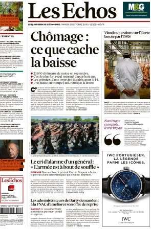 Les Echos du Mardi 27 Octobre 2015