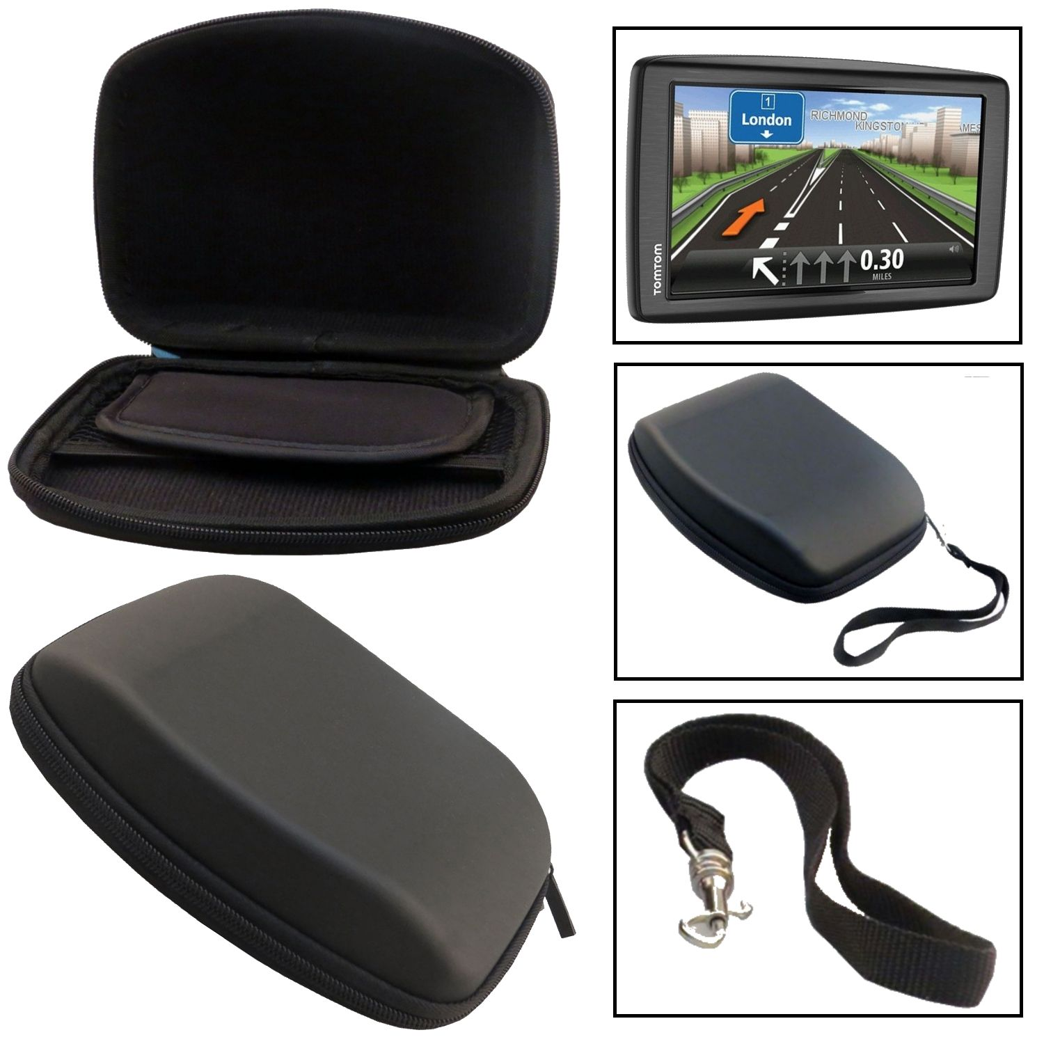 tui de transport rigide en voiture sat nav boitier support pour gps tomtom xl ebay. Black Bedroom Furniture Sets. Home Design Ideas