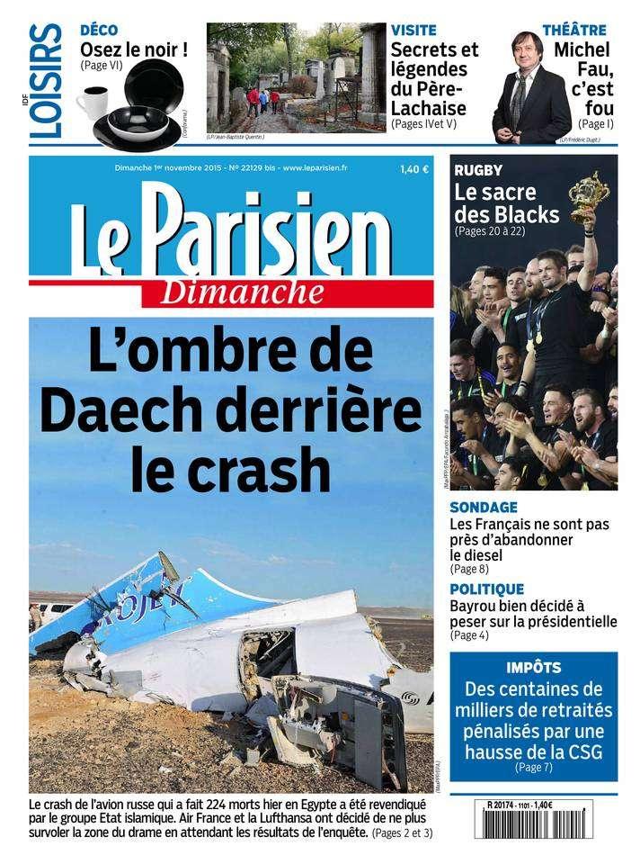 Le Parisien + Le Guide de votre Dimanche 01 Novembre 2015