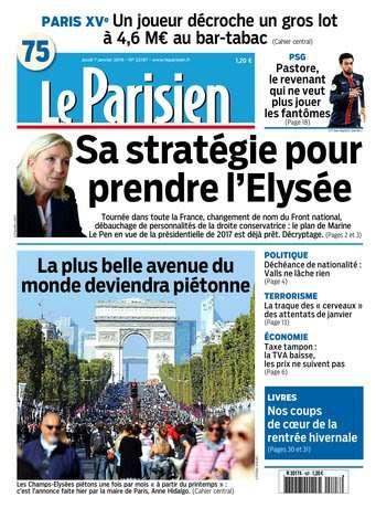 Le Parisien + Journal de Paris du Jeudi 7 Janvier 2016