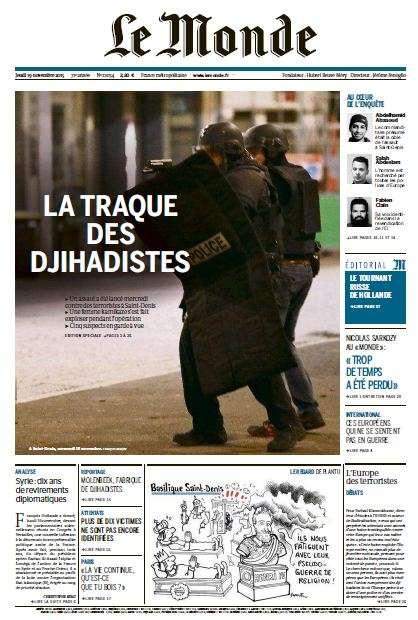 Le Monde du jeudi 19 novembre 2015