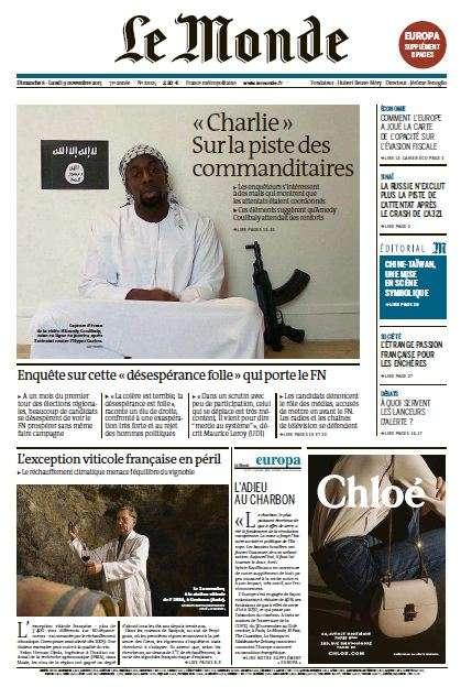 Le Monde + 2 suppléments du dimanche 8 et lundi 9 novembre 2015