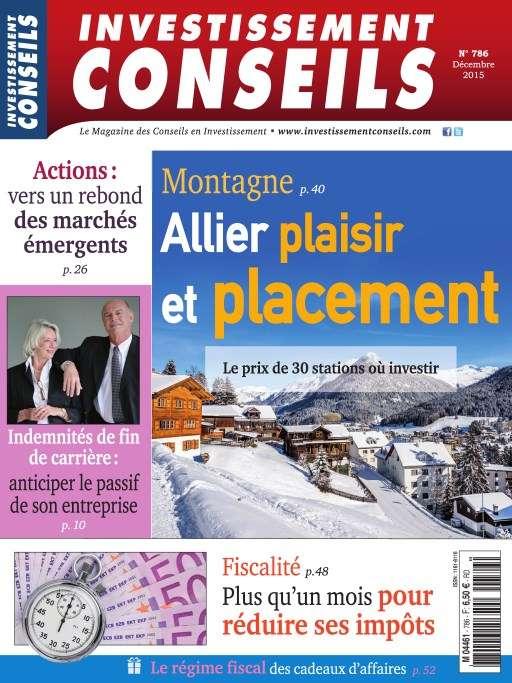 Investissement Conseils 786 - Decembre 2015
