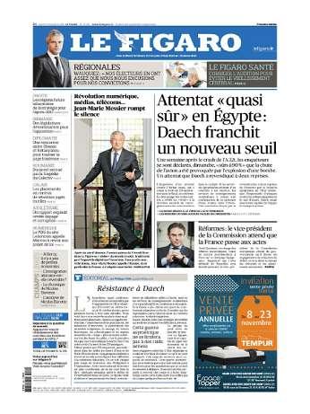 Le Figaro Du Lundi 9 Novembre 2015