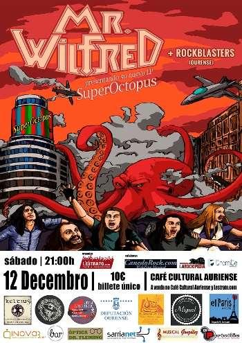 Mr. Wilfred y Rockblasters en Ourense