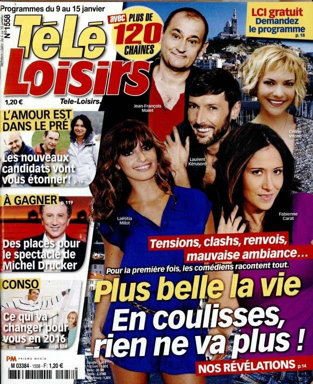Télé Loisirs - 9 au 15 Janvier 2016