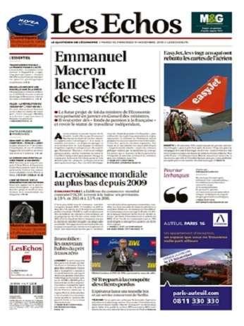Les Echos & Les Echos Sociétés Du Mardi 10 Novembre 2015