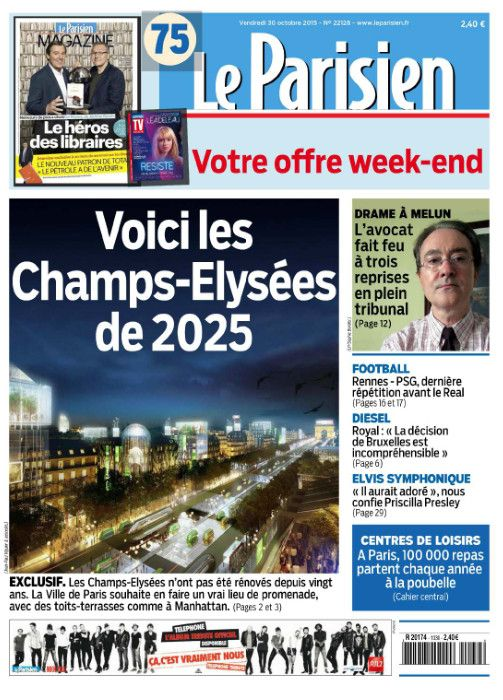 Le Parisien + Journal de Paris du Vendredi 30 Octobre 2015