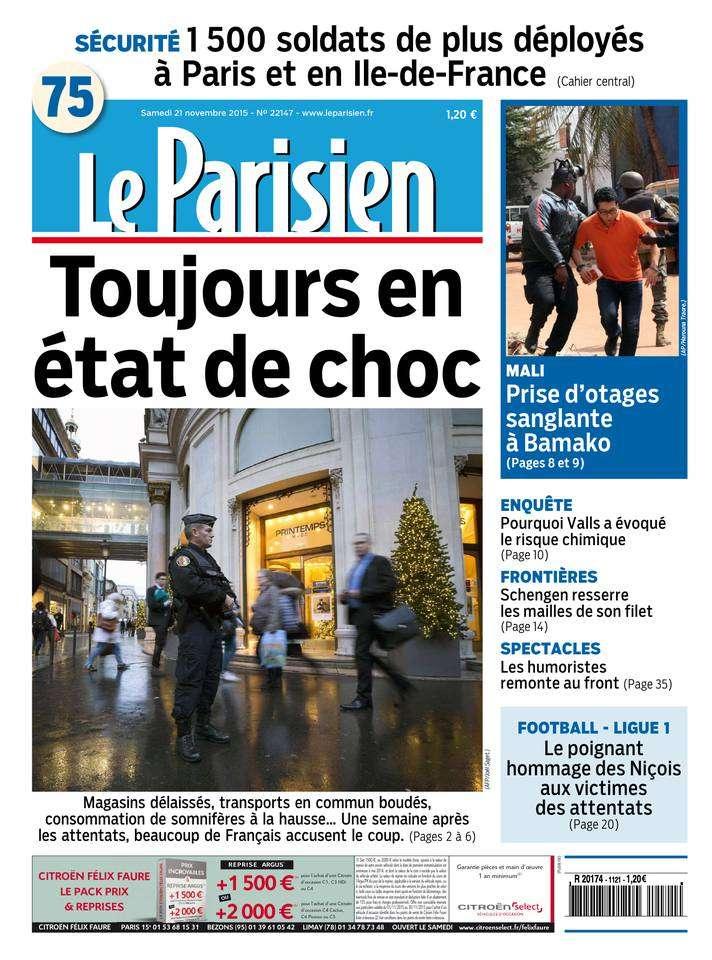 Le Parisien + Journal de Paris du Samedi 21 Novembre 2015
