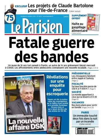 Le Parisien + Journal de Paris du Vendredi 16 Octobre 2015