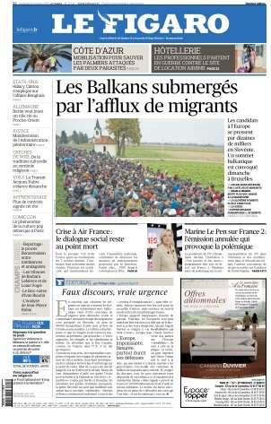 Le Figaro du Vendredi 23 Octobre 2015