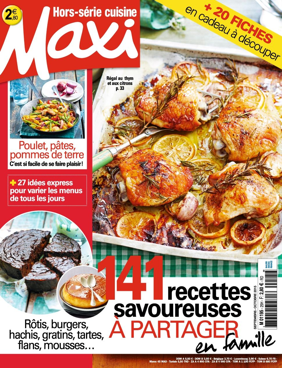 Maxi Hors Série Cuisine 25 - Septembre-Octobre 2015