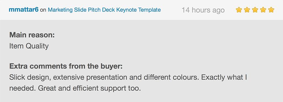 Marketing Slide Pitch Deck Keynote Template
