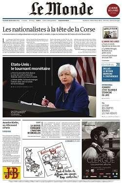 Le Monde et 2 Suppléments du Vendredi 18 Décembre 2015