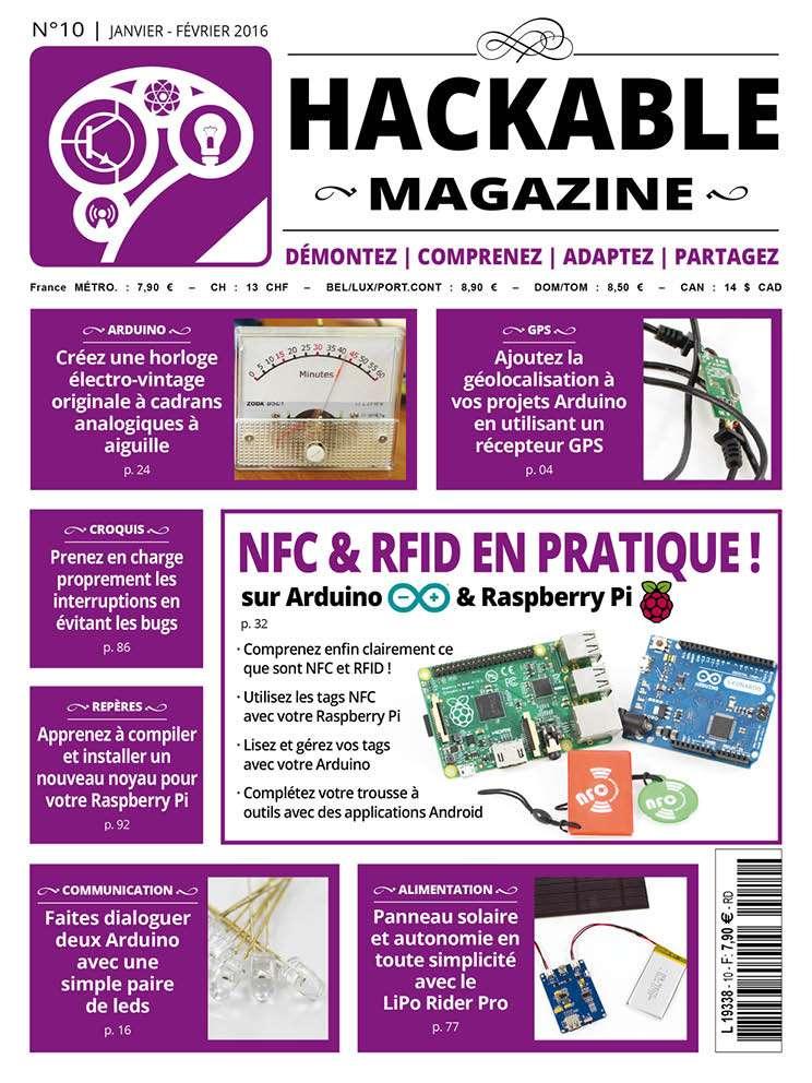 Hackable Magazine No.10 - Janvier-Février 2016