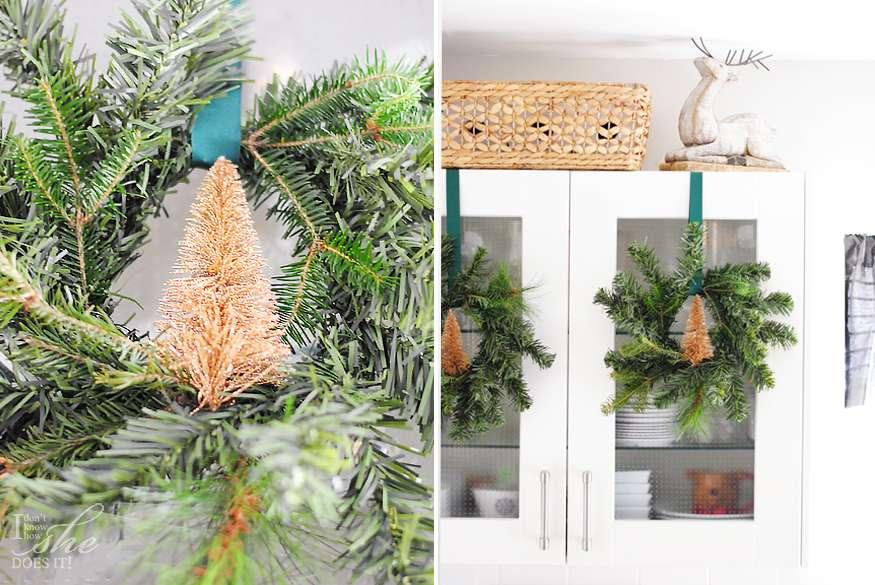 Christmas Room Tour Green Kitchen