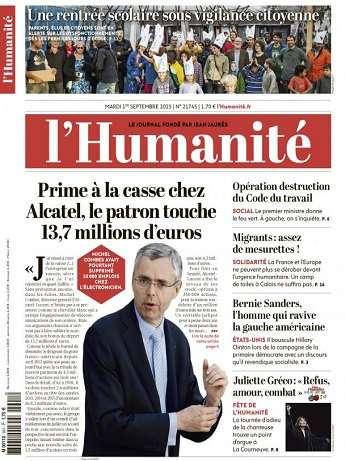 L'humanite Du Mardi 1 Septembre 2015
